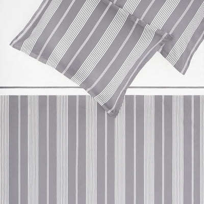 Bedroom inspiration and bedding decor | The Marina Grey Duvet Cover | Crane and Canopy