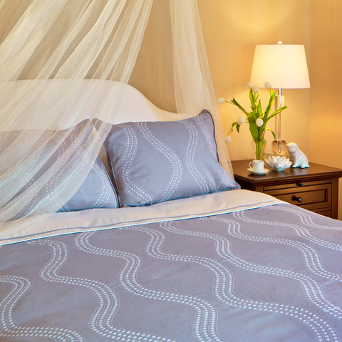 Bedroom inspiration and bedding decor | The Marina Blue Duvet Cover | Crane and Canopy