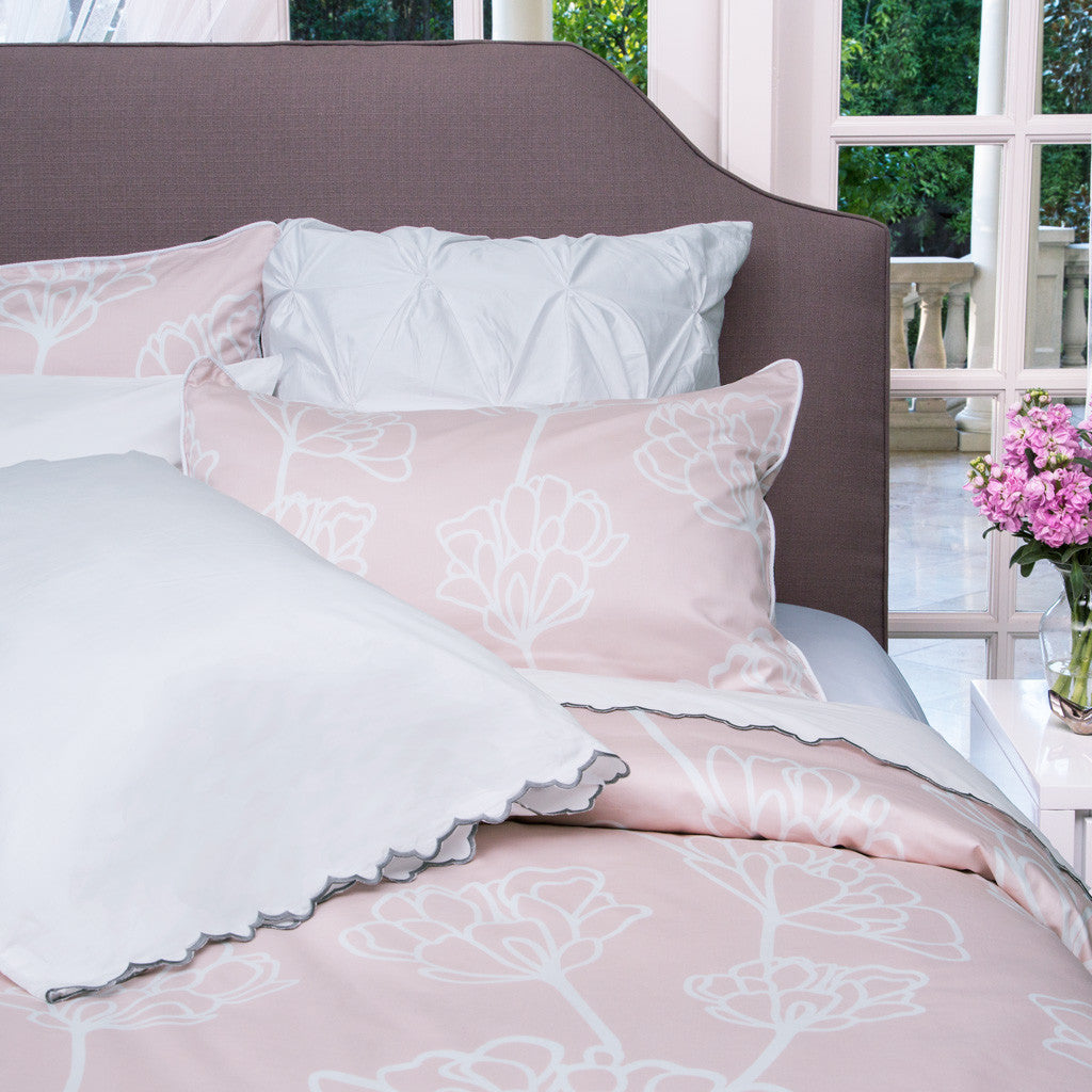 Bedroom inspiration and bedding decor | The Mariposa Blush Pink Duvet Cover | Crane and Canopy