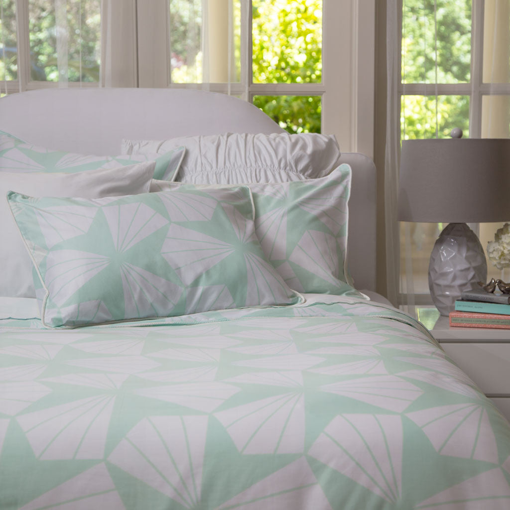 Bedroom inspiration and bedding decor | The Taylor Mint Green Duvet Cover | Crane and Canopy