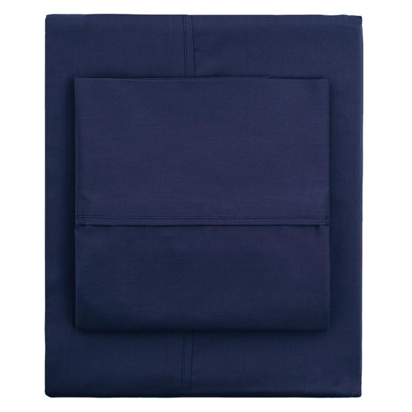 Bedroom inspiration and bedding decor | Navy Blue 400 Thread Count Pillow Case Duvet Cover | Crane and Canopy