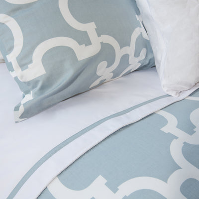 Bedroom inspiration and bedding decor | The Noe Blue Duvet Cover | Crane and Canopy