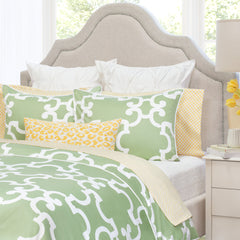 Bedroom inspiration and bedding decor | The Noe Green | Crane and Canopy