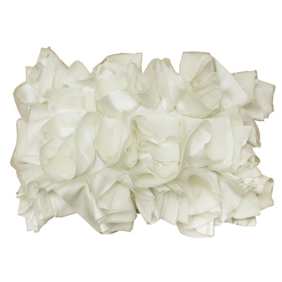 Off-White Ruffled Pillow