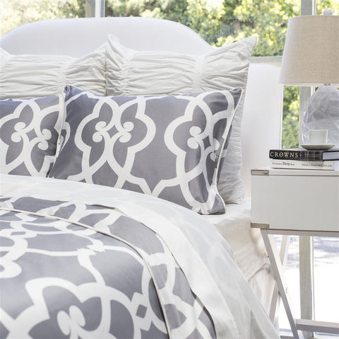 Bedroom inspiration and bedding decor | The Pacific Grey Duvet Cover | Crane and Canopy