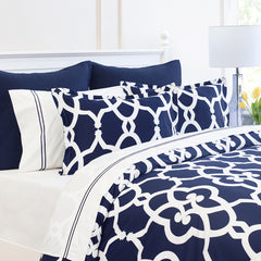 Bedroom inspiration and bedding decor | The Pacific Navy | Crane and Canopy