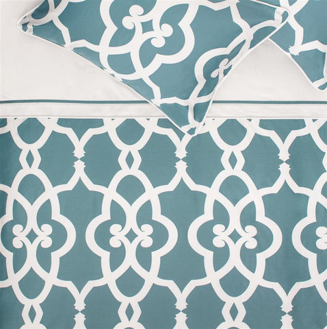 The Pacific Teal Duvet Cover Crane Amp Canopy