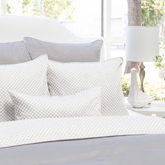 Great site for designer bedding | The Page Grey with Solid Grey