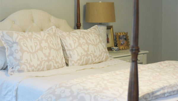 Crane and Canopy Designer Bedding as seen in Pawley Island Posh
