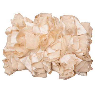 Peach Ruffled Pillow