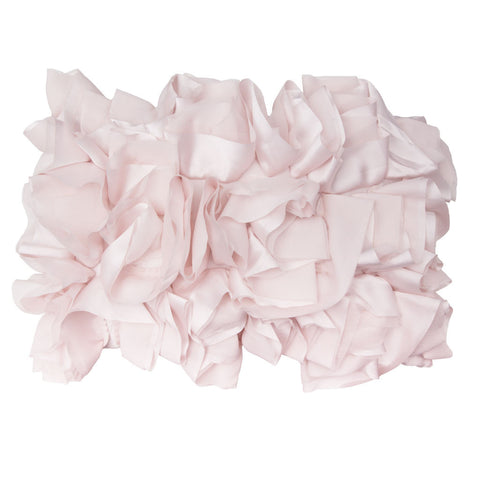 Bedroom inspiration and bedding decor | The Soft Pink Ruffled Pillow | Crane and Canopy