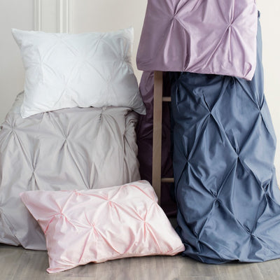 Bedroom inspiration and bedding decor | Pink Valencia Pintuck Euro Sham Duvet Cover | Crane and Canopy