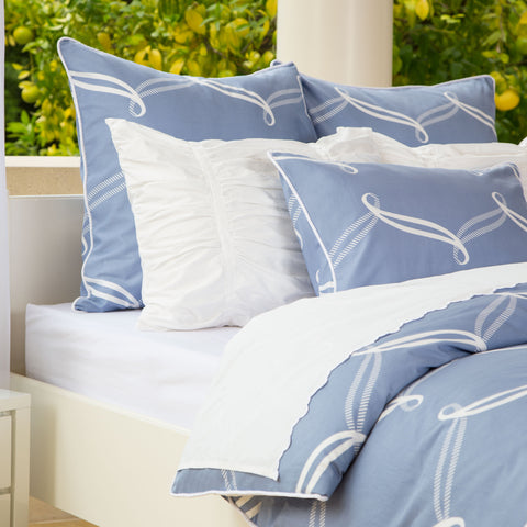 Bedroom inspiration and bedding decor | The Piper Blue | Crane and Canopy