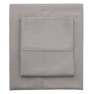 English Grey 400 Thread Count Fitted Sheet