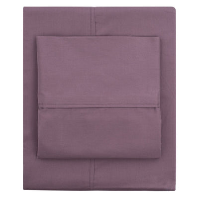 Plum Purple 400 Thread Count Flat Sheet