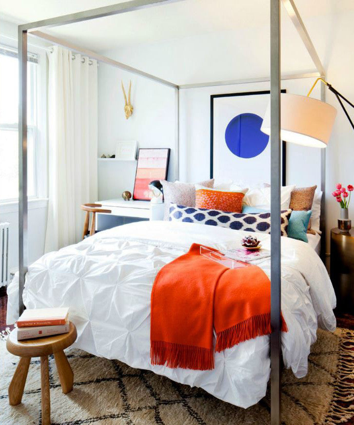 Crane and Canopy Designer Bedding as seen in Rue Magazine