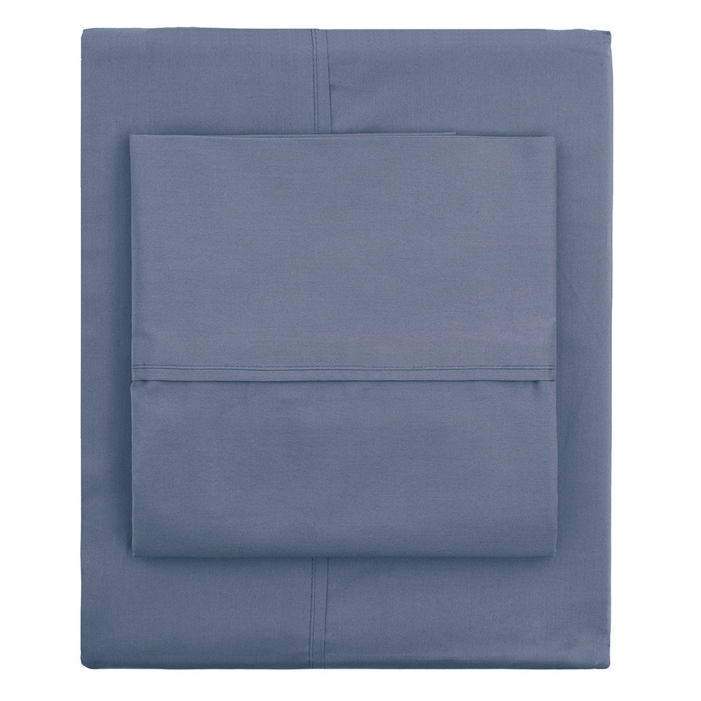 Bedroom inspiration and bedding decor | The Slate Blue 400 Thread Count Sheetss | Crane and Canopy