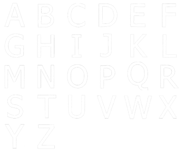 Image of all the letters in Author