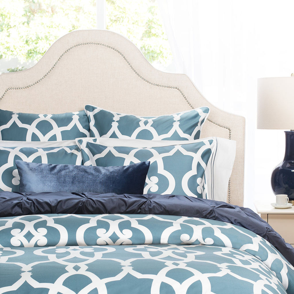 Bedroom inspiration and bedding decor | Teal Pacific Sham Duvet Cover | Crane and Canopy