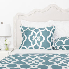 Bedroom inspiration and bedding decor | The Pacific Teal | Crane and Canopy