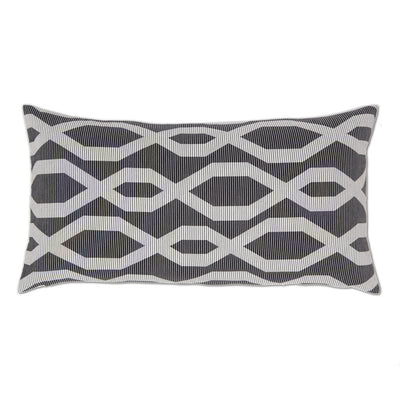 Black and White Gate Throw Pillow