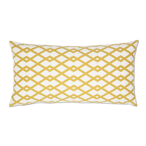 Bedroom inspiration and bedding decor | The Mustard Geometric Throw Pillow | Crane and Canopy