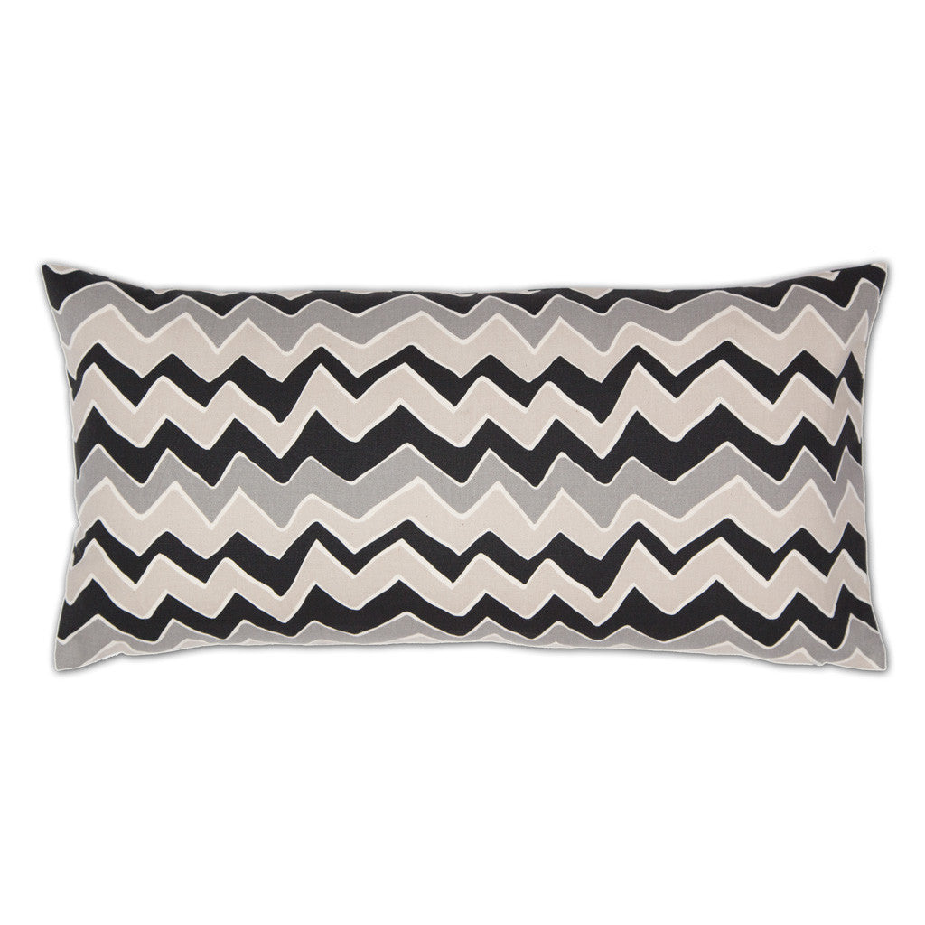 Bedroom inspiration and bedding decor | Gray and White Chevrons Throw Pillow Duvet Cover | Crane and Canopy