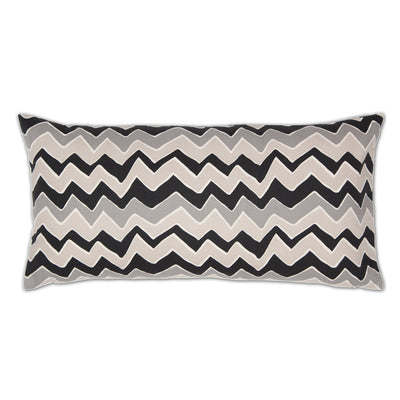 Gray and White Chevrons Throw Pillow