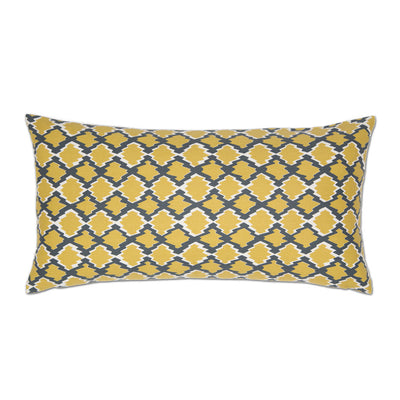 Yellow and Gray Diamonds Throw Pillow