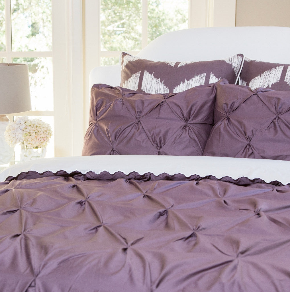 Bedroom inspiration and bedding decor the valencia plum purple pintuck duvet cover crane and