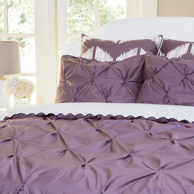 Plum Purple Valencia Pintuck Sham