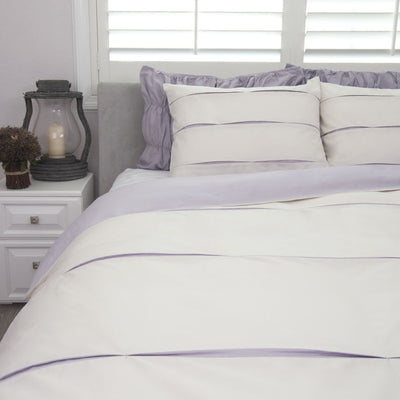 Bedroom inspiration and bedding decor | The Vista Lilac Duvet Cover | Crane and Canopy