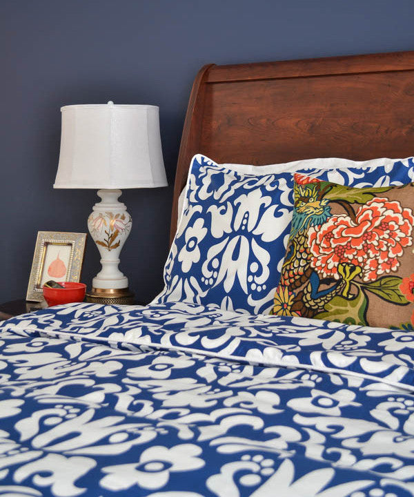 Crane and Canopy Designer Bedding as seen in Whats Ur Home Story