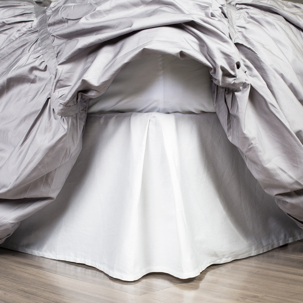 Bedroom inspiration and bedding decor | The Soft Pleated White Bed Skirt Duvet Cover | Crane and Canopy