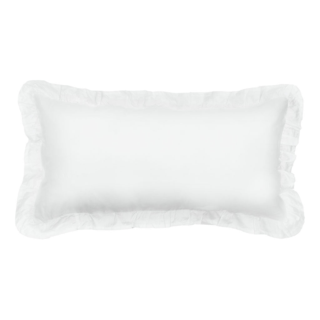Throw Pillow White : Ruffle Throw Pillow The Soft White Ruffles Crane & Canopy