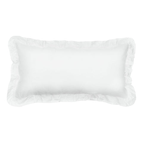 Soft White Vienna Throw Pillow