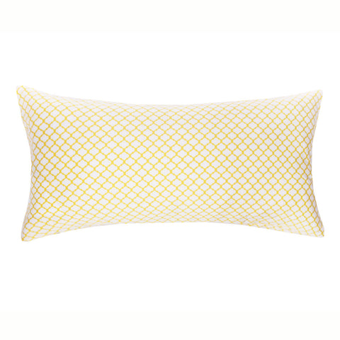 Yellow Cloud Throw Pillow