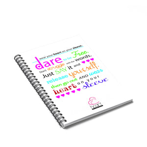 Dare Spiral Notebook - Ruled Line