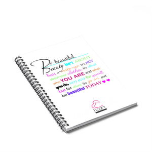 Beautiful Spiral Notebook - Ruled Line