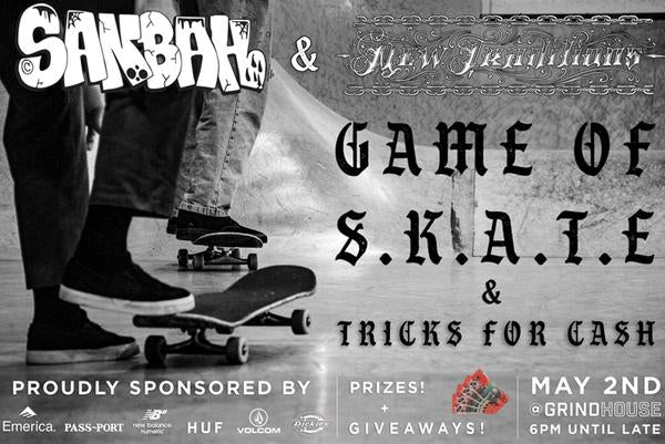 Game Of Skate - Sanbah Grindhouse 2nd May - FREE ENTRY!