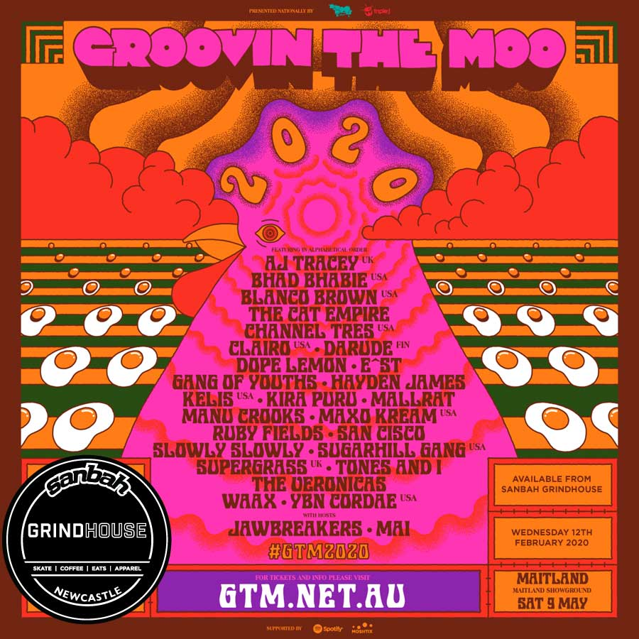 2020 Grooving the moo tickets on sale tomorrow - Purchase from Grindhouse - Maitland tickets only!!