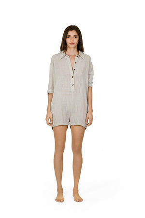 Buy Sanbasics Long Sleeve Gauze Onesie | Buy Sanbasics Fashion Online