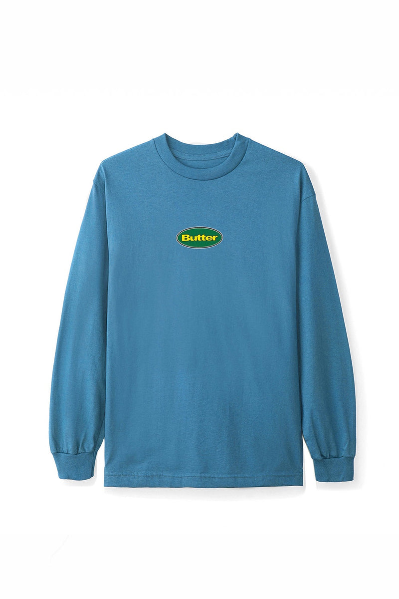 Butter Goods Badge LS Tee - Slate | Buy Butter Goods Online