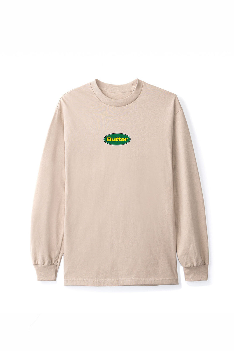 Butter Goods Badge LS Tee - Sand | Buy Butter Goods Online