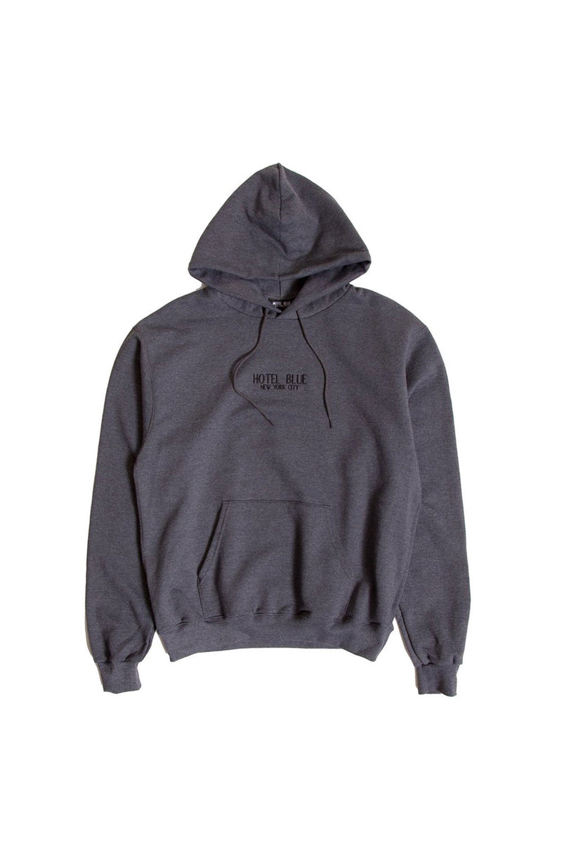 Hotel Blue Logo Champion Pullover - Charcoal | Hotel Blue NYC Clothing Online