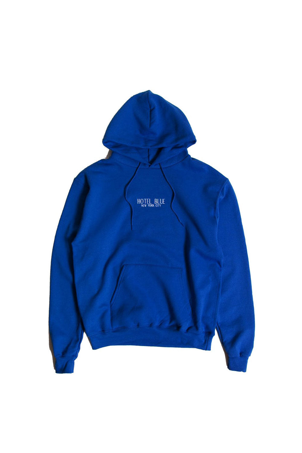 Hotel Blue Logo Champion Pullover - Royal | Hotel Blue NYC Clothing Online