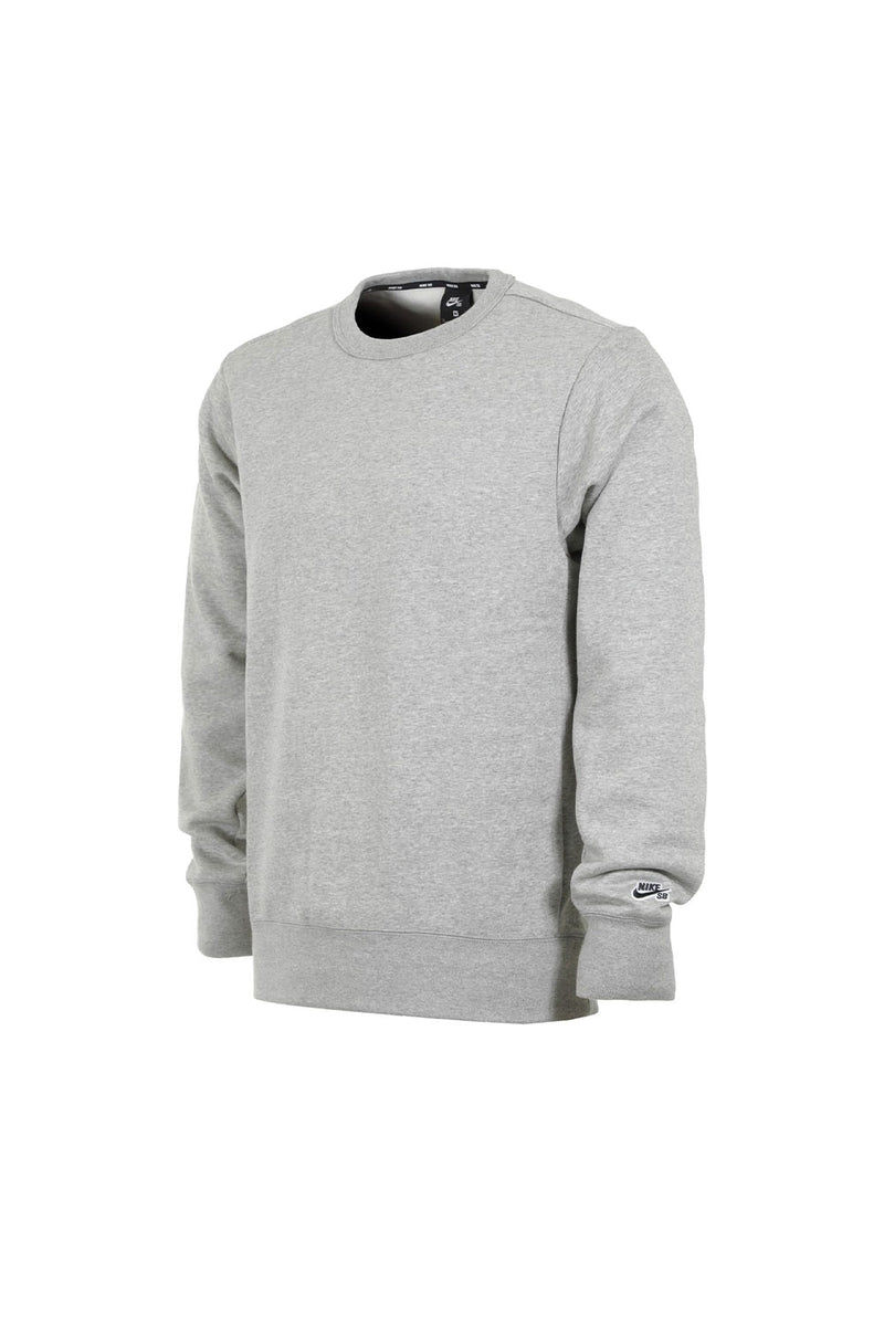 Nike SB Icon Fleece Crewneck Heather Grey | Buy Nike SB Online