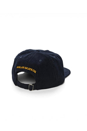Polar Skate Co Cord 5 Panel Cap - Navy