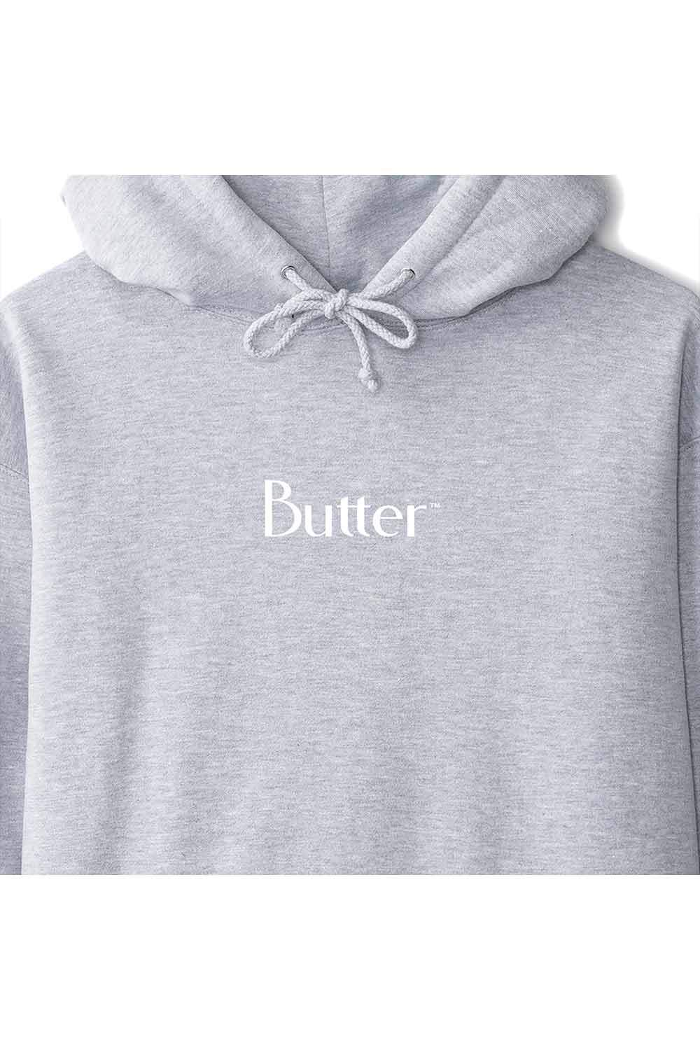 Butter Goods Puff Print Classic Logo Pullover - Heather Grey