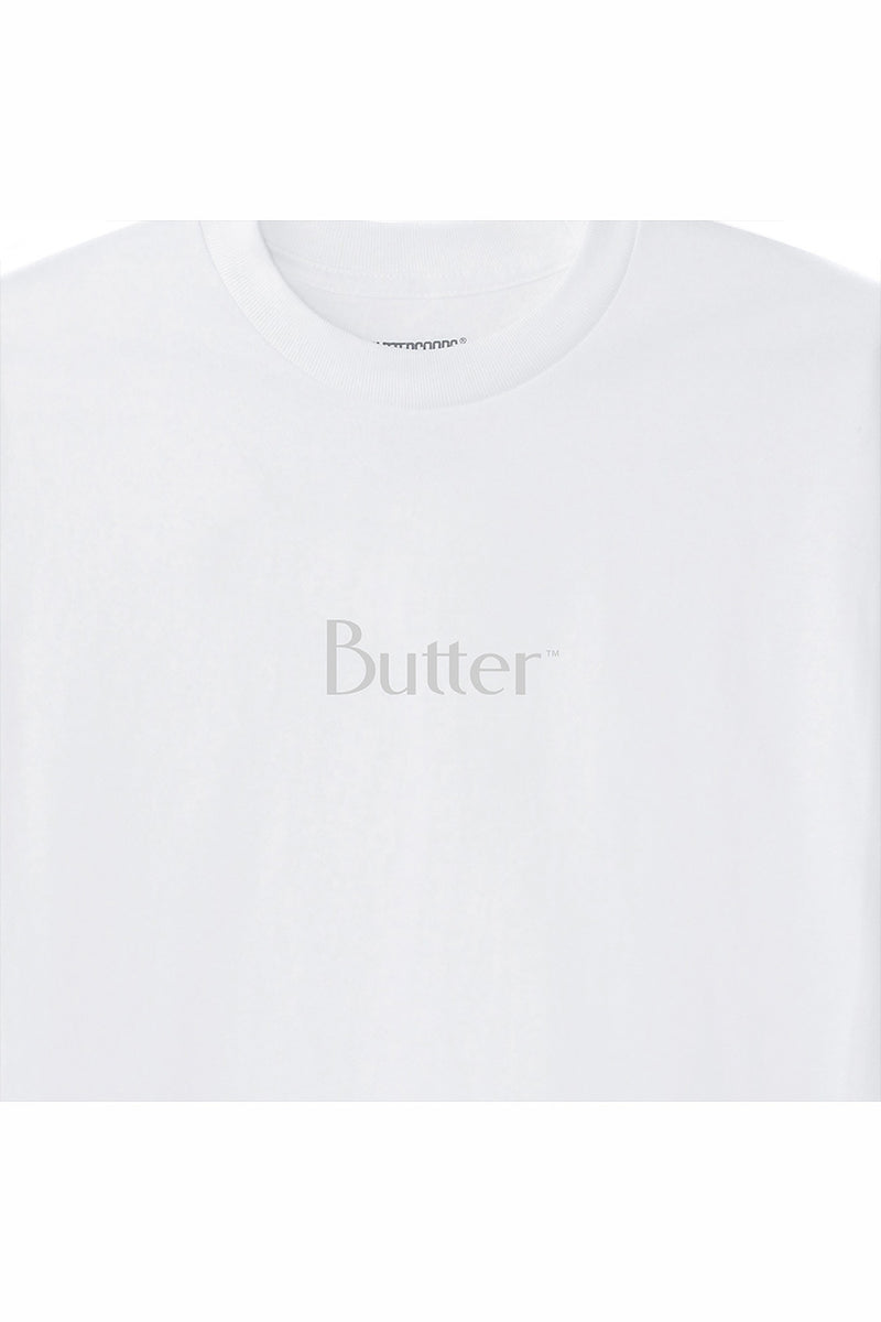 Butter Goods Puff Print Classic Logo Tee - White